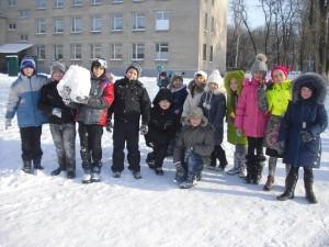 Прогулка в морозный и солнечный день в Группе продленного дня.